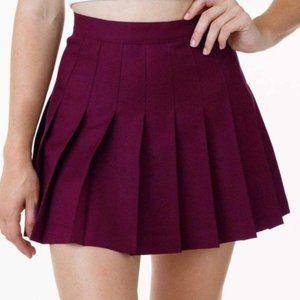 America Apparel Burgundy Tennis Skirt L